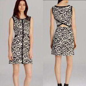 Karen Millen Zebra Print Cotton Mini Dress, Size 2